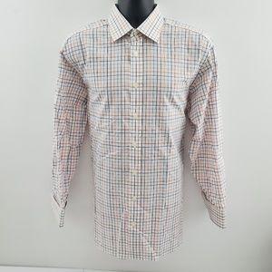 Charles Tyrwhitt dress shirt plaid I54 16.5 33